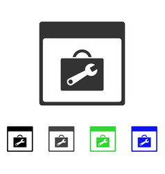 Toolbox calendar page flat icon vector