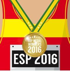 Top Medal Winner 2016 Sport Competition Concept vector image