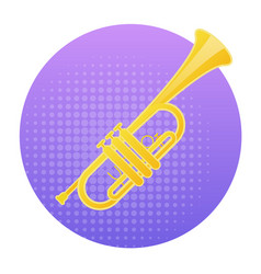 trumpet icon wind music instrument concept vector image