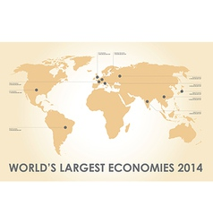 world economy vector image vector image