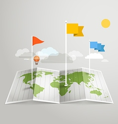 World map with different marks Design elements vector image vector image