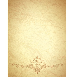 Vintage paper with monogram vector