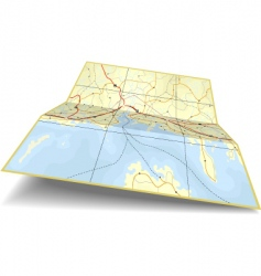 map folding vector image