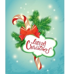Holiday new year greeting card with xmas candy vector