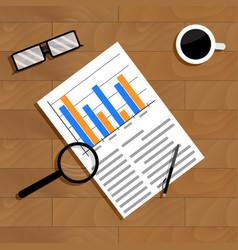 Economics and statistics vector