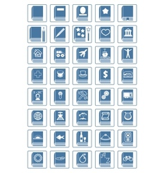 Library icon set vector