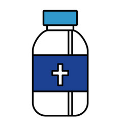 Bottle medicine isolated icon vector