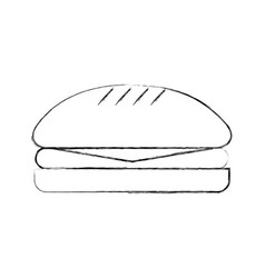 Delicious burger isolated icon vector