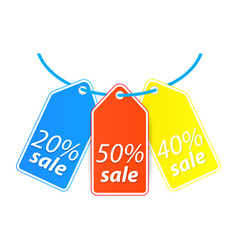 Price tag hang on the thread vector