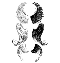 Stylized angel wings vector
