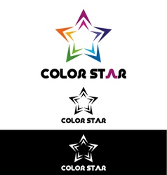 Color star logo template vector image