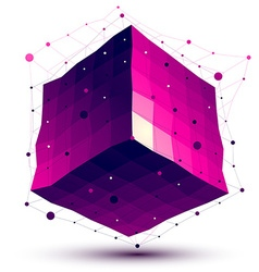 Contemporary techno purple squared stylish vector