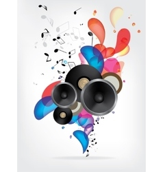 Abstract music background with notes vector