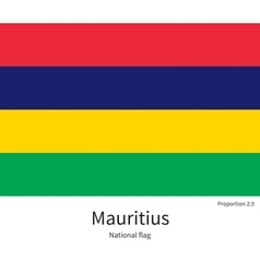 National flag of mauritius with correct vector