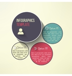 Circle infographic boards in modern flat vector