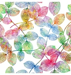 Seamless pattern with colorful leaves vector image