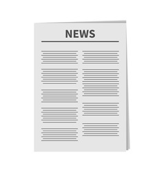Newspaper icon flat design isolated white vector