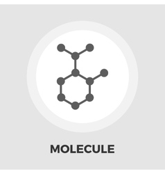 Molecule icon flat vector