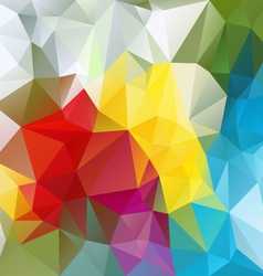 Colorful abstract polygon triangular pattern vector