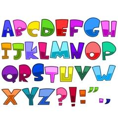 bright cartoon alphabet vector image