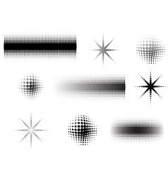 9 circular fades 7 vector