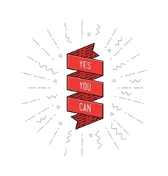 Yes you can inspirational vector