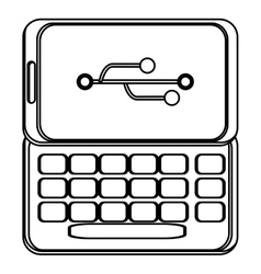 Cellphone with usb icon vector