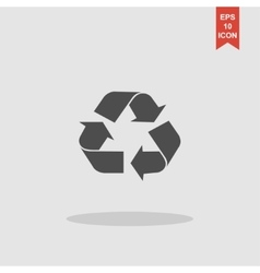 Recycle sign in white color - isolated vector