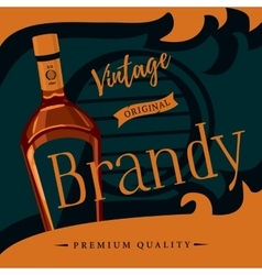 Old style brandy or brandywine poster vector