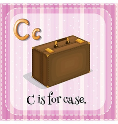 A letter c for case vector