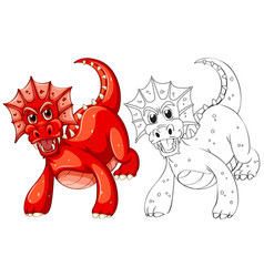 Animal outline for dragon vector