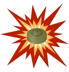Antitank mine vector image