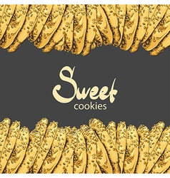 Aromatic oatmeal cookies vector