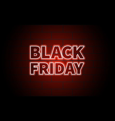 black friday black inscription on brick wall vector image vector image