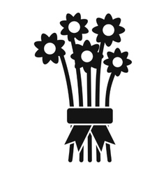 Bouquet of flowers icon simple style vector