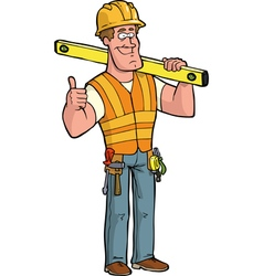 builder with level vector image vector image