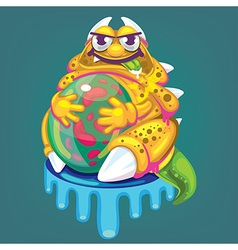 cartoon fat virus vector image