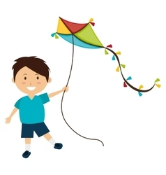 Colorful kite flying vector
