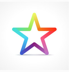 Colorful Star vector image vector image
