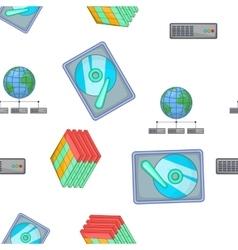 Computer repair pattern cartoon style vector