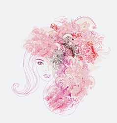 Creative fashion portrait vector image