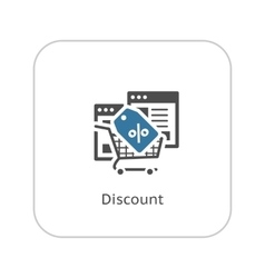 Discount Icon Flat Design vector image