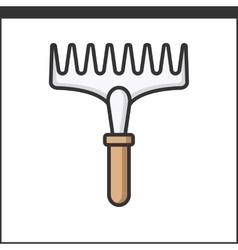 Garden rake icon vector image vector image