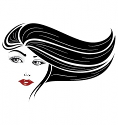 glamour girl vector image vector image