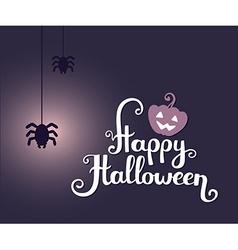 Halloween with text happy halloween glowin vector