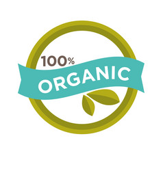 Hundred percent organic sign vector