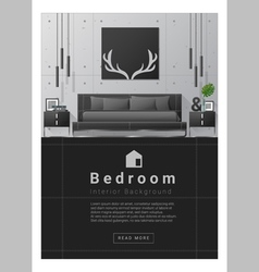 Interior design Modern bedroom banner 8 vector image vector image