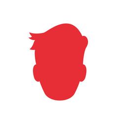 Man profile silhouette vector