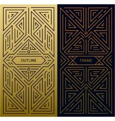 Monogram design elements in trendy vintage vector