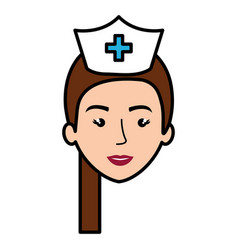 Nurse professional woman of health vector